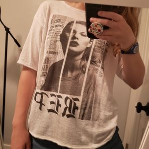 Taylor Swift Tops - Taylor Swift Oversized Reputation Album Cover Tee